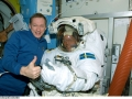 ESA_astronauts_Frank_De_Winne_left_and_Christer_Fuglesang_inside_the_International_Space_Station_s_Quest_Airlock